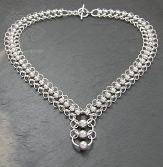 Chainmail Jewelry chain from Silverweaver a producer of