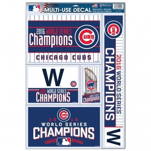 Chicago Cubs 2016 World Series Champions 11X17 Multi Use Decal Sheet - baseball stats spreadsheet