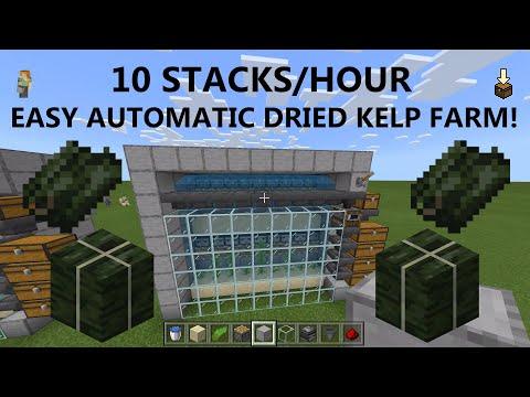 115) Minecraft Bedrock EASY AUTOMATIC Kelp Farm 1 16 XBOX/PS4/PE