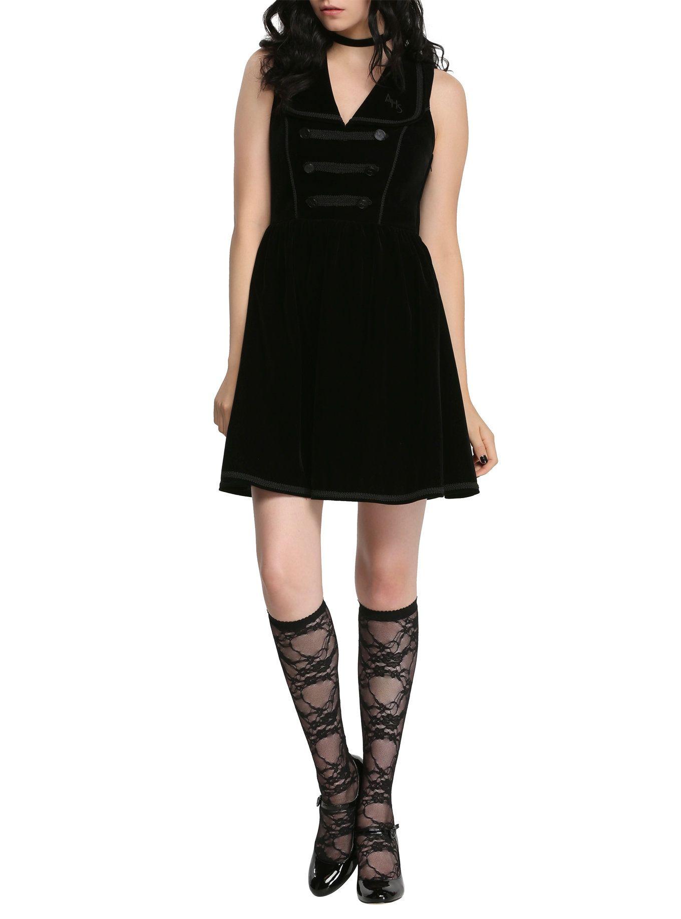 American horror story hotel bellhop dress hot topic and black velvet