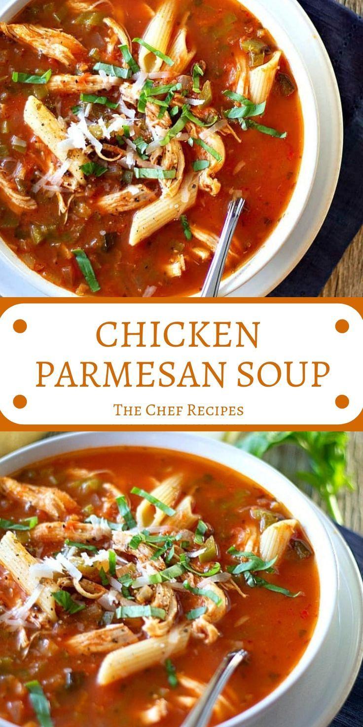 CHICKEN PARMESAN SOUP #chickenparmesan