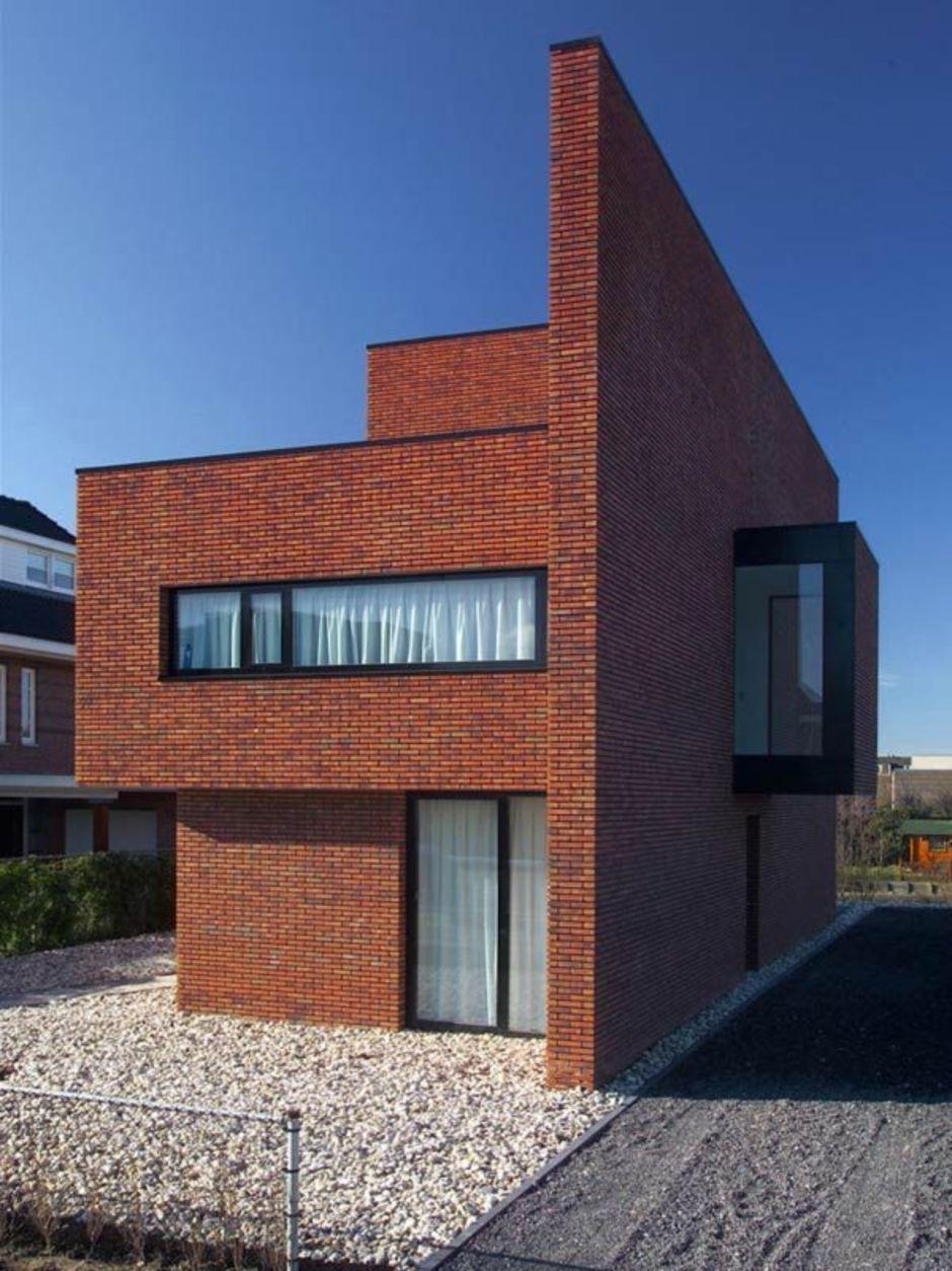 Brick facade brick wall facade house modern brick house modern house design