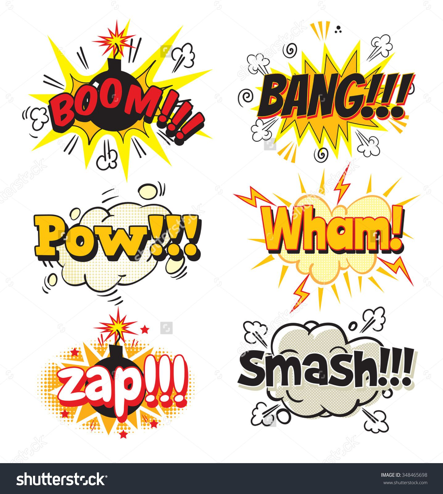 boom bang pow wham zap smash bubble template for comics pop