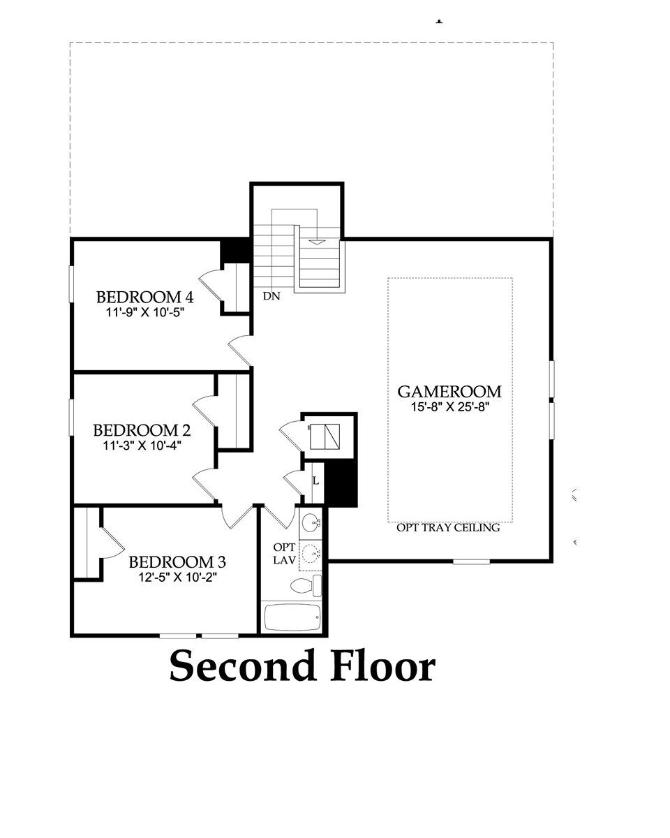 Stirling Bridge Austin TX New Homes Centex Homes Mallory - Floor plans for 5 bedroom homes