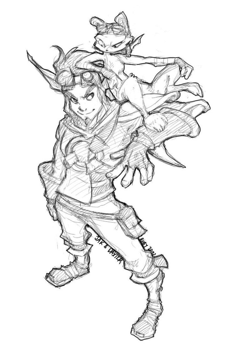 Jak And Daxter Jak Daxter Concept Art Characters Character Design