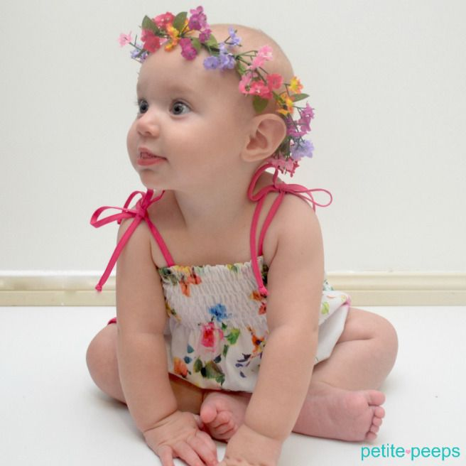 Pattern Review from Petite Peeps for the Shirred Romper by the Little Blue Duck
