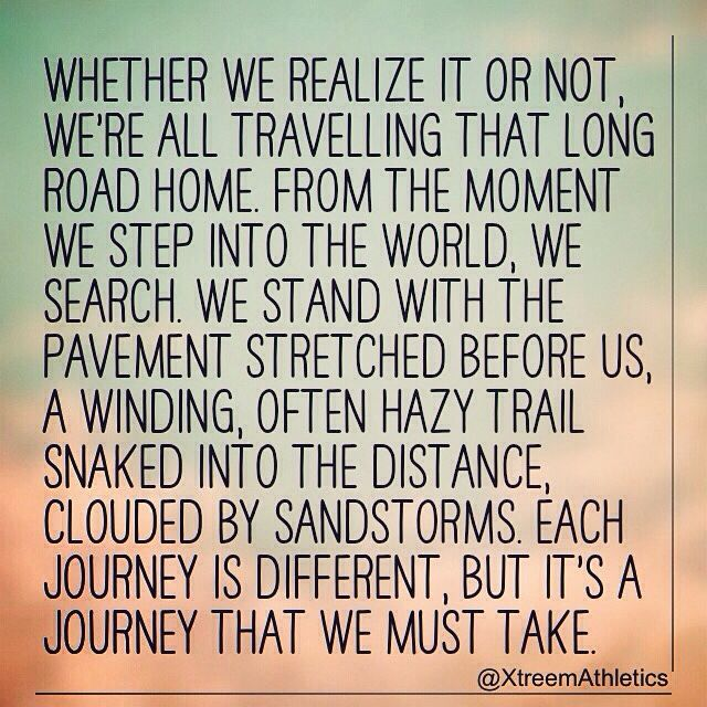 It's all about the #journey, not the #destination