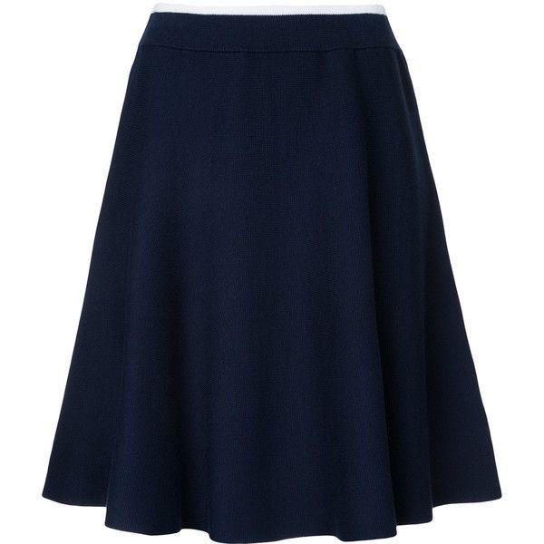 Loveless knit skirt ($93) via Polyvore featuring skirts, blue, knit skirt and blue skirt