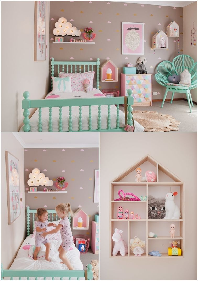 cute ideas to decorate a toddler girl s room kids room shelf