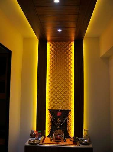 Wooden false ceiling google search pooja rooms for Wooden false ceiling for living room