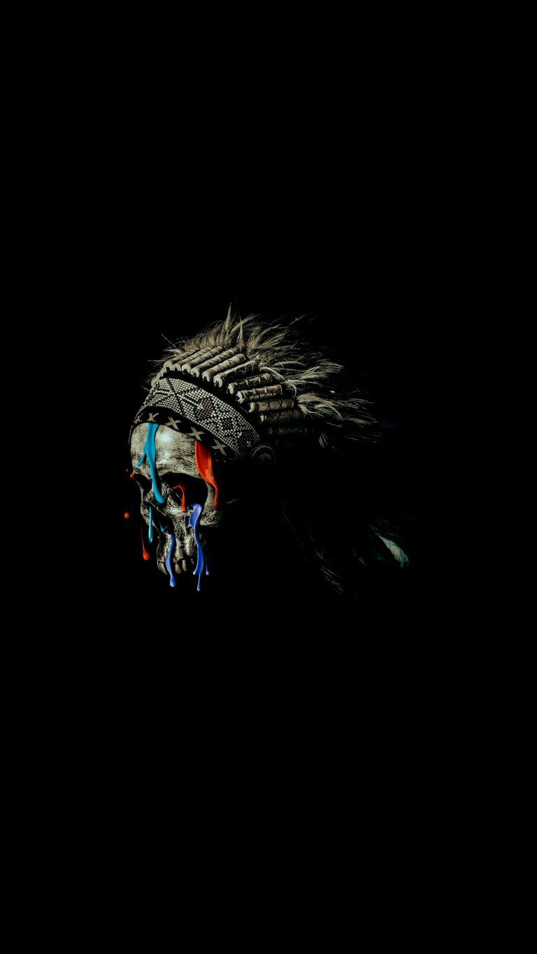 Native American Skull iPhone Wallpaper - iPhone Wallpapers