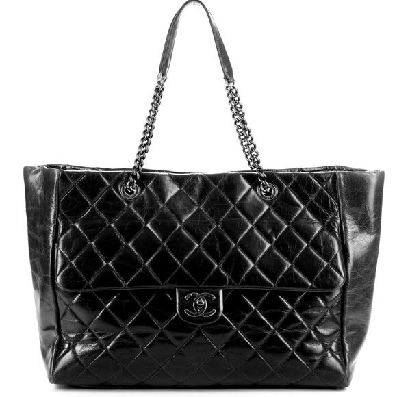 4b086dd81b87 Spotted while shopping on Poshmark: Chanel Glazed Calfskin Large Shopper  Flap Tote! #poshmark #fashion #shopping #style #CHANEL #Handbags