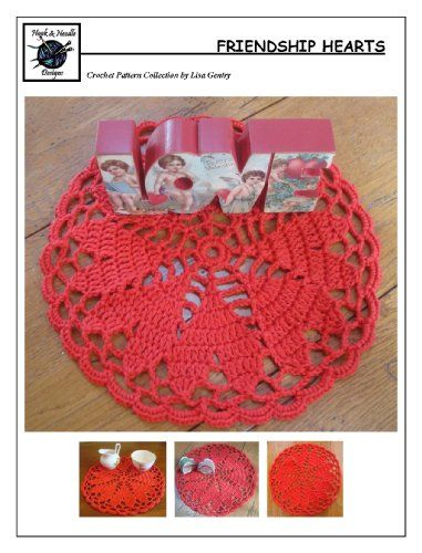 Friendship Hearts - Crochet Pattern #143 for Doily | Crochet ...