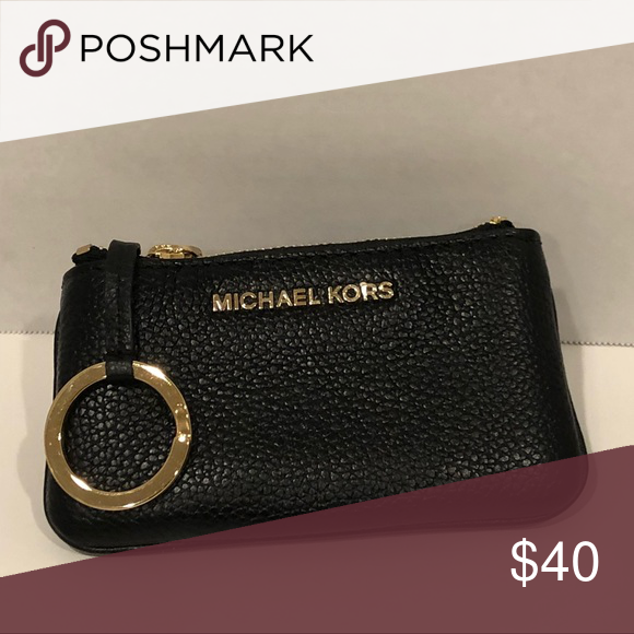 02b8d94216e4c2 MK Coin purse MK soft leather coin purse - black. Never used. Michael Kors  Bags Wallets