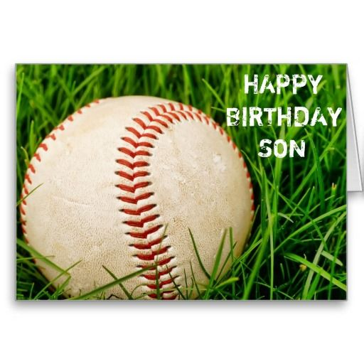 Baseball Happy Birthday Son Card - Joshua's 11 year old!!!