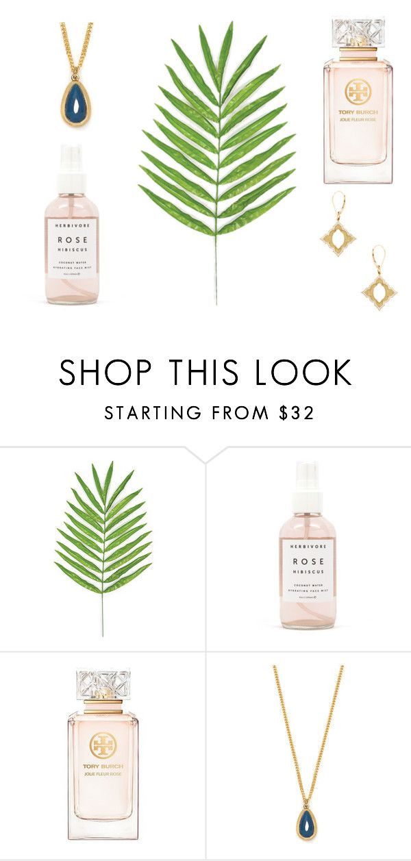 """Springtime Favorites"" by casperandcoal ❤ liked on Polyvore featuring Herbivore Botanicals, Tory Burch, Lola Rose, JJ Number 8, BeautyTrend, Beauty, makeup, jewelry and cosmetic"
