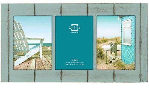 SEASIDE Aquamarine-stain wood 3/5x7 collage frame by Prinz - 5x7 ...
