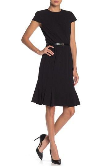 Calvin Klein | Belted Flare Hem Dress #nordstromrack