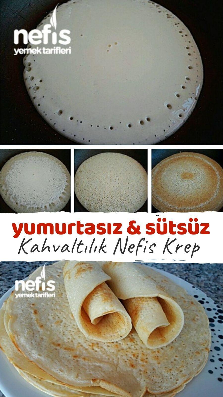 Krep Yumurtasız Sütsüz Tarifi nasıl yapılır 20.20 kişinin ...