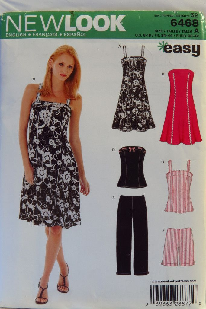 New Look 6468 Misses\' Dress, Pants, Shorts and Tunic
