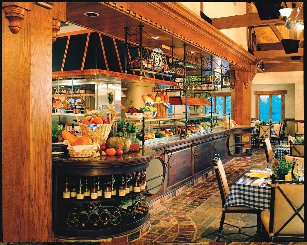 Home Decoration,Mesmerizing Italian Bistro Kitchen Decor With Recycled  Ceramic Flooring And Hanging Wrought Iron