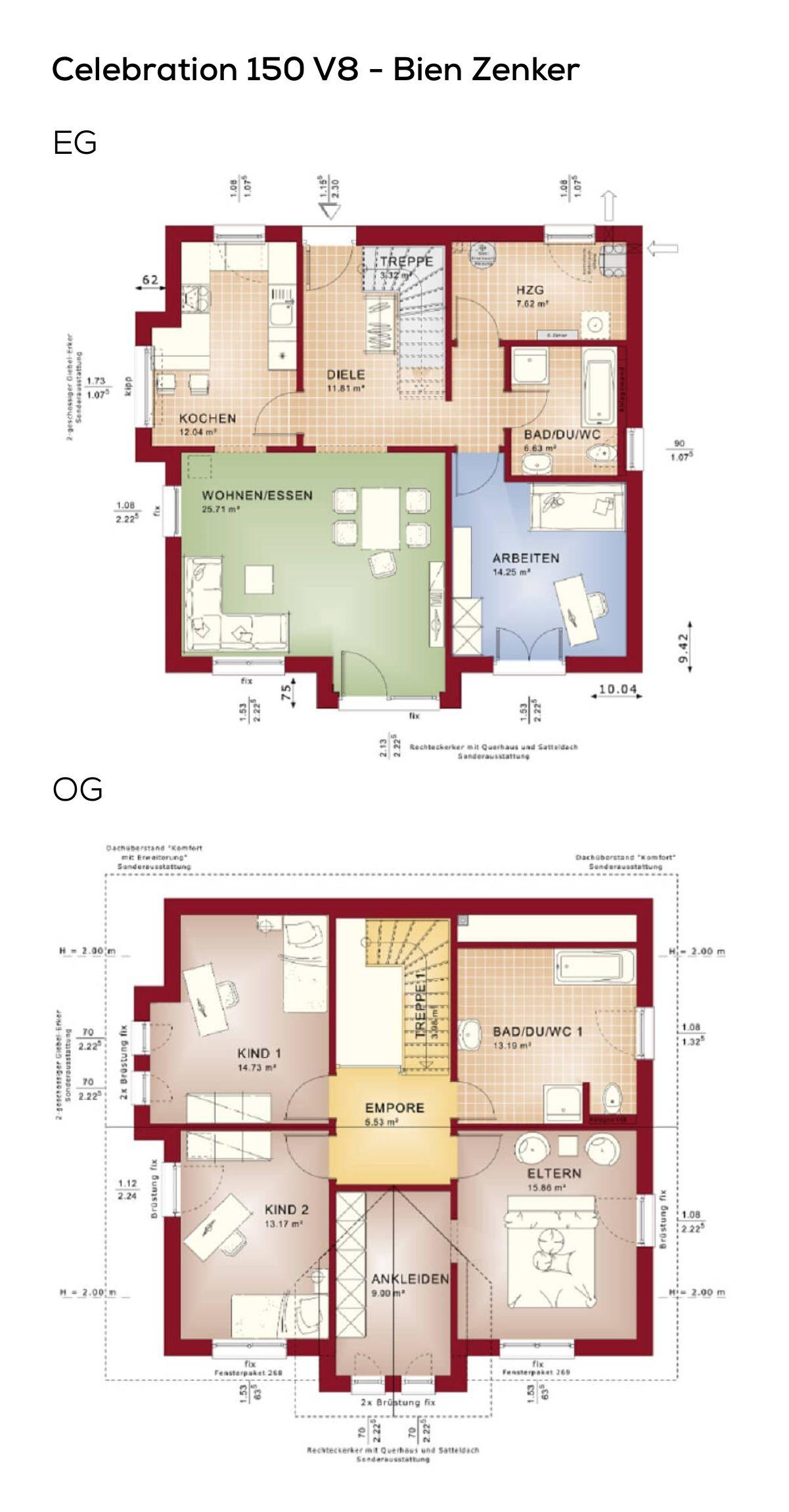 grundriss einfamilienhaus moderner landhausstil 6 zimmer 150 qm wohnflche treppe mit galerie