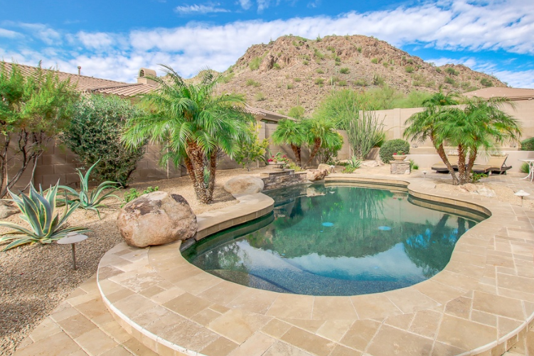 Backyard Desert Landscaping With Pool