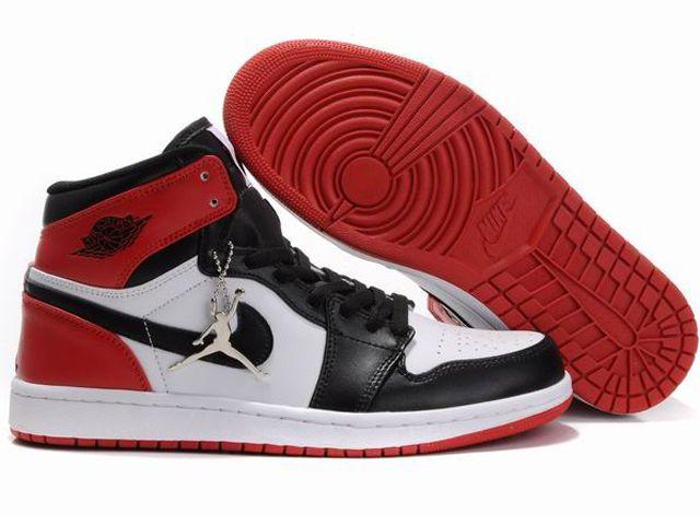 3ddc8d676b6 Chaussures Air jordan 1 Rouge  Noir  Blanc  nike 10002  - €55.87   Nike  Chaussure Pas Cher