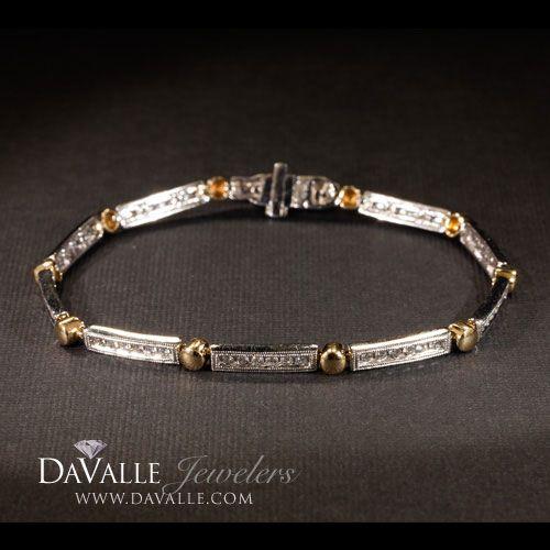 14 kt two tone 1.10 total weight diamond bracelet (140-11663)