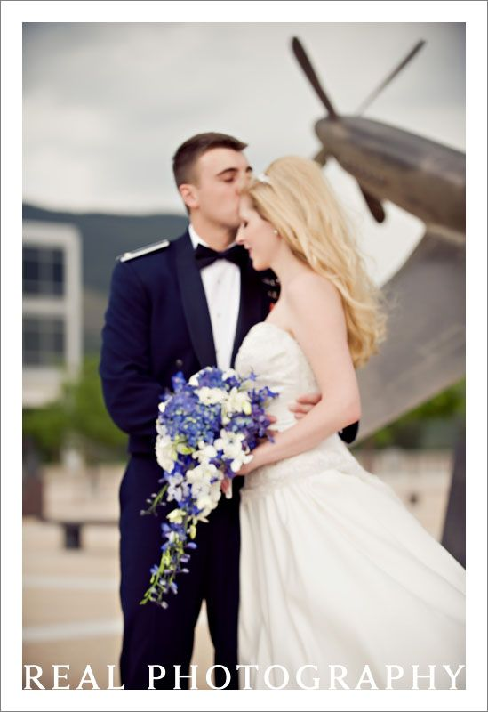 Air Force Academy Chapel Wedding Usafa Portraits Bride Groom With Model Airplane