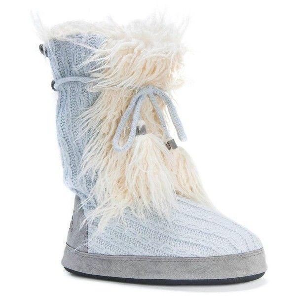 MUK LUKS Women's Jewel Sweater ... Knit Boot Slippers vYcL2
