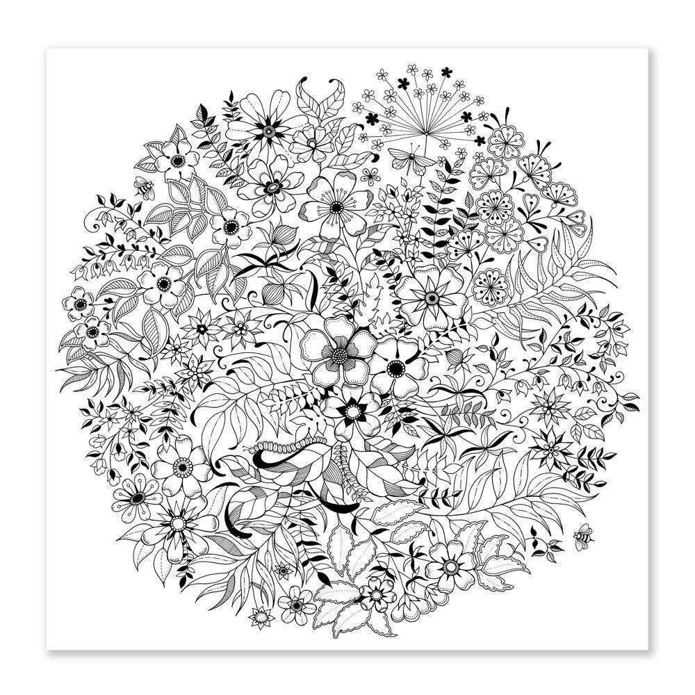 Desenhos Para Colorir Pintar E Imprimir Mandala Coloring Pages Garden Coloring Pages Secret Garden Coloring Book