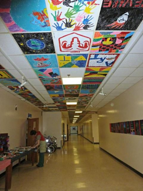 Image Result For Painted Ceiling Tiles In Schools Mural