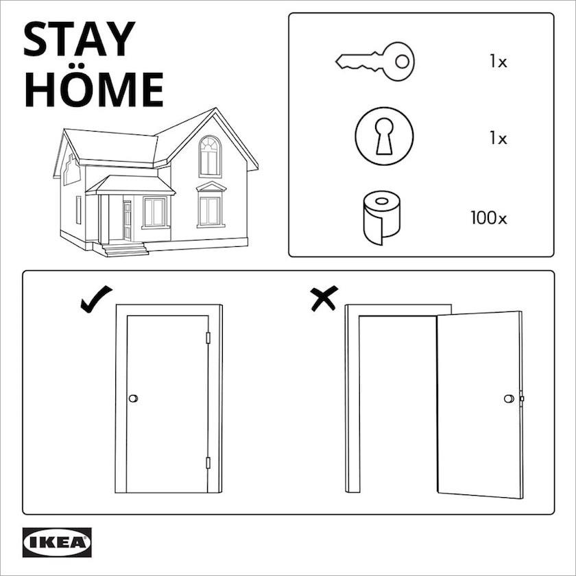 Ikea Encourages People To Stayhome Digital Agency Network In 2020 Ikea Instructions Ikea Hackers Ikea