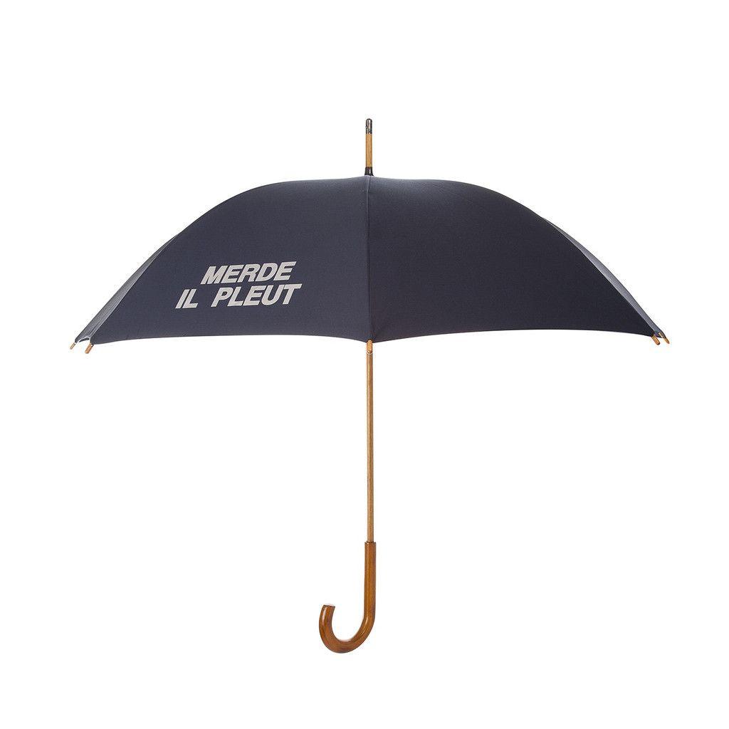 MERDE IL PLEUT Unisex Umbrella - Navy Blue