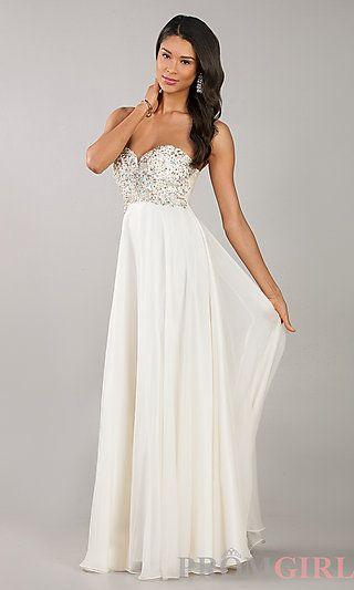 d66924db132 Strapless Sweetheart Floor Length Dress at PromGirl.com  fashion  prom   dresses
