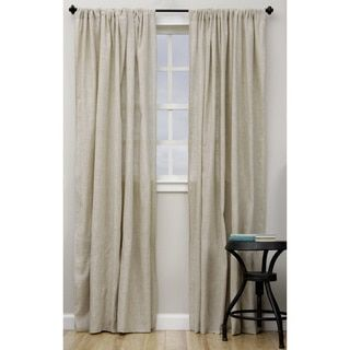 Exclusive Fabrics Linen Open Weave Natural Curtain Panel Tan Sheer 50 W X 84 L Brown Size