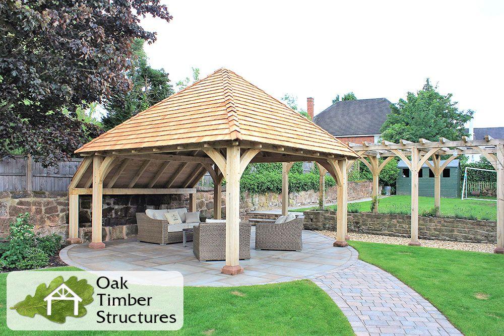 Oak Gazebo 5 Garden Huts Garden Gazebo Oak Gazebo