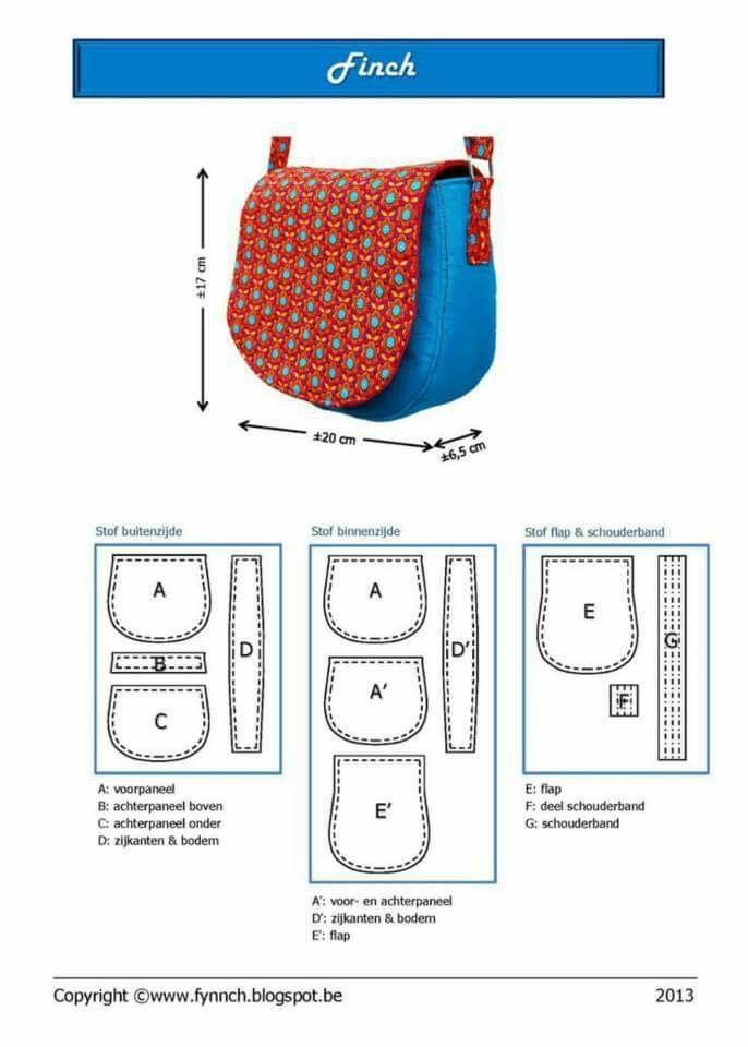 Cartera molde | Patrones de bolsos | Pinterest | Diy bags, Sewing y ...