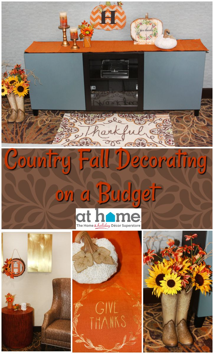 Fall decorating on a budget - Country Fall Decorating On A Budget With At Home Stores