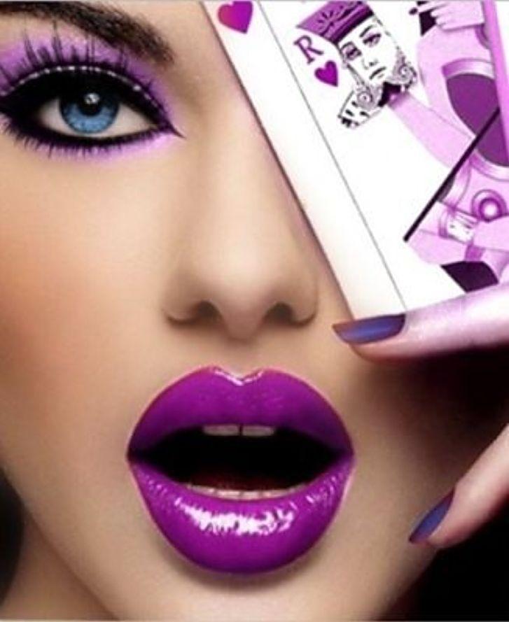 Purple Poker I LOVE the make-up!