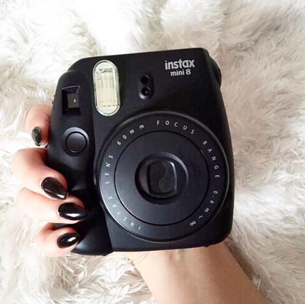 Black Polaroid Black aesthetic, Instax mini, Shades of black