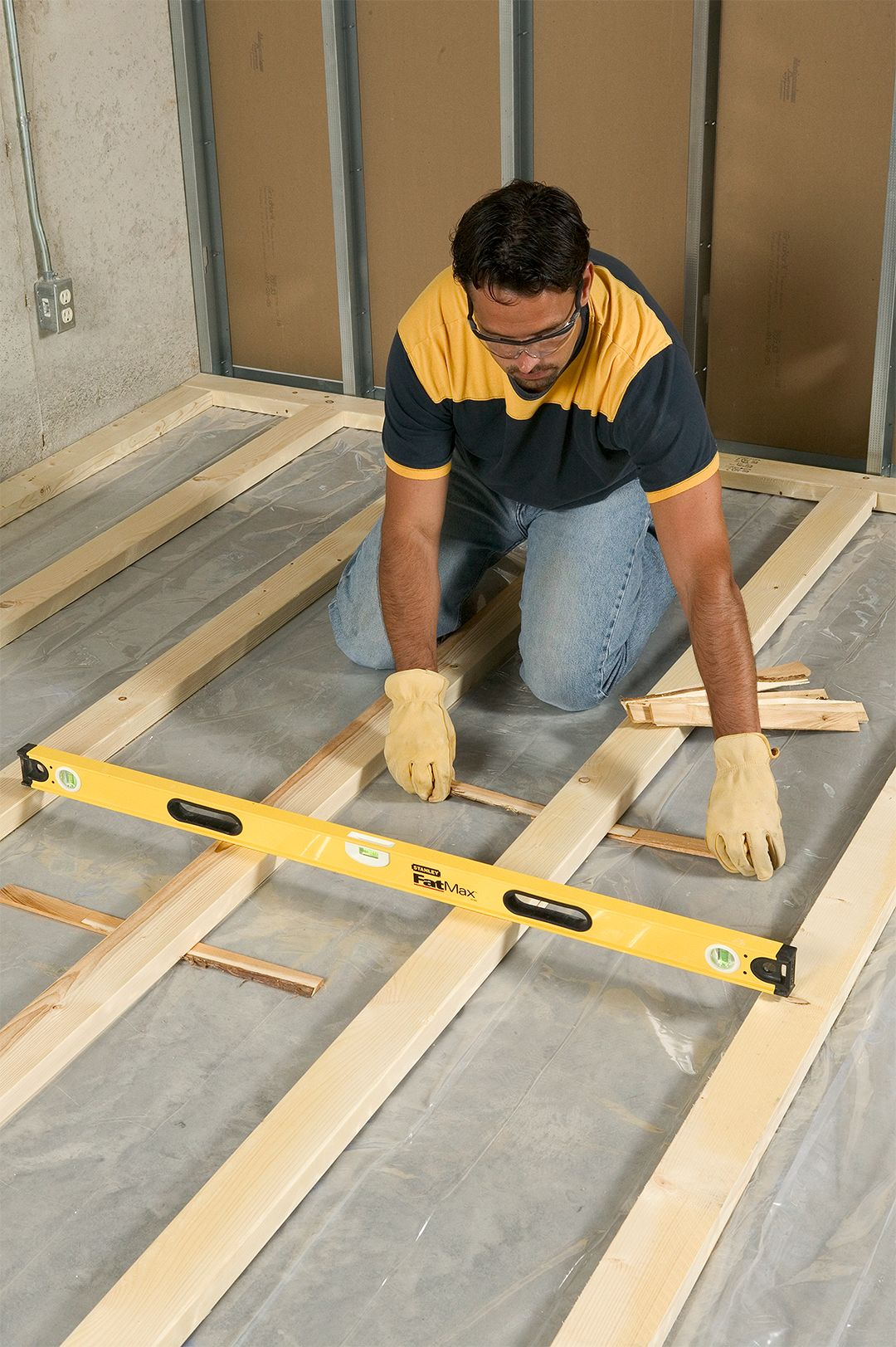 How To Install Framing For Sleeper Floors Floor Insulation Floor Framing Basement Ceiling Ideas Cheap