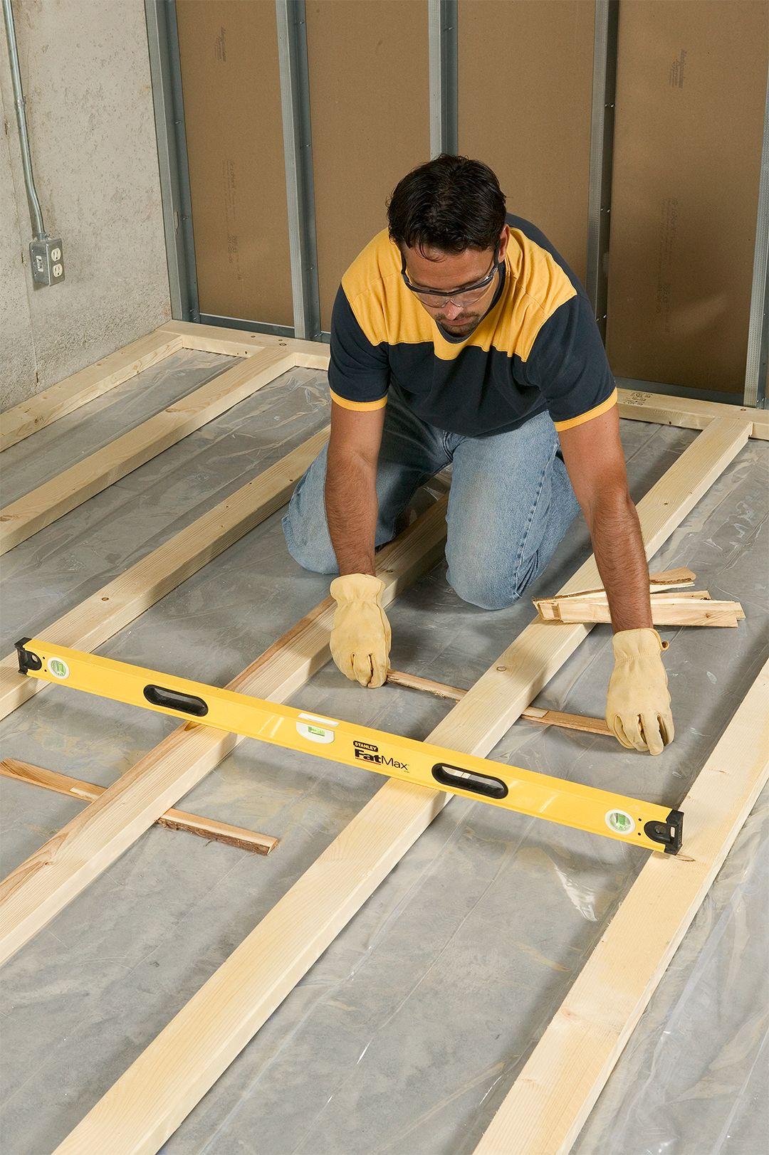 How to Install Framing for Sleeper Floors Basement