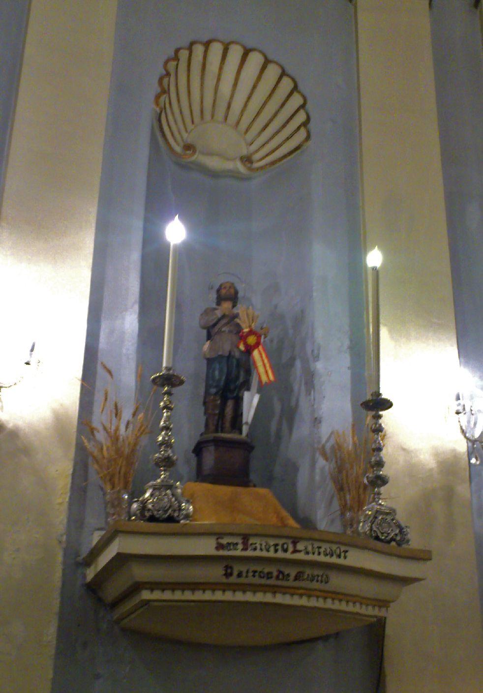 Talla de San Isidro. Colegiata de San Isidro. Calle Toledo, 37. Madrid
