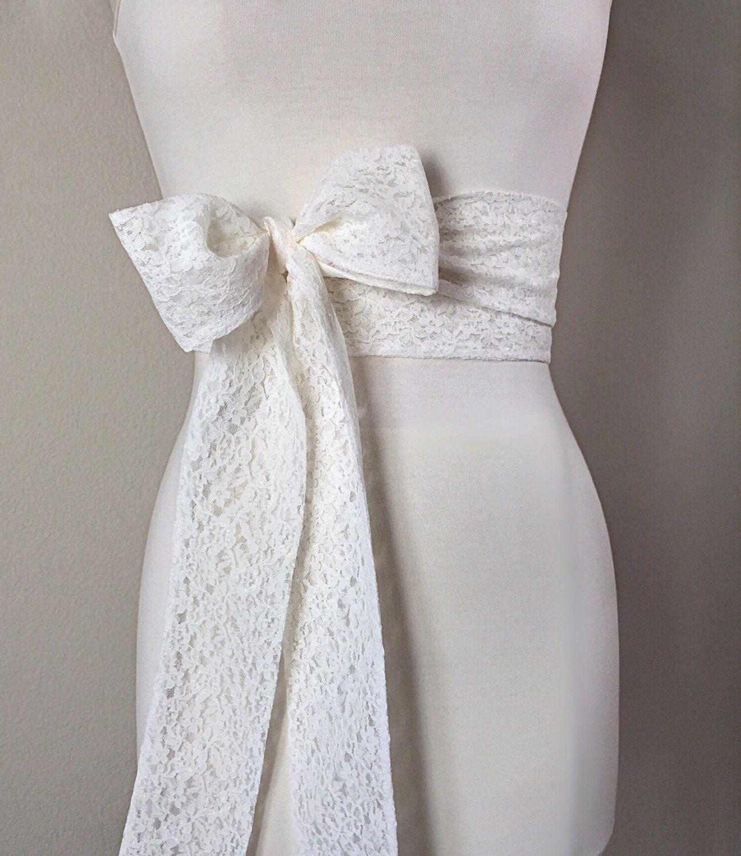 White belt for wedding dress