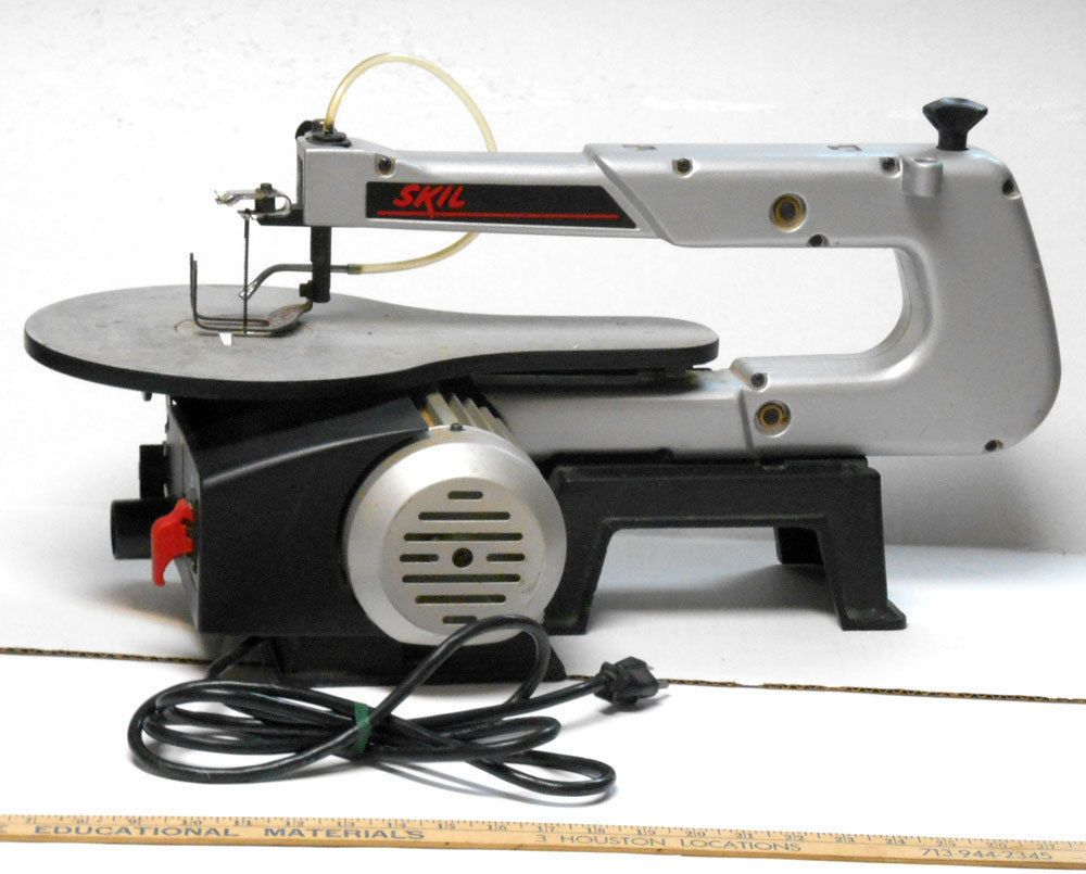 Skill Scroll Saw 16 3330 1 6 Amp Woodworking Tool Table Mount Single Speed Mesas