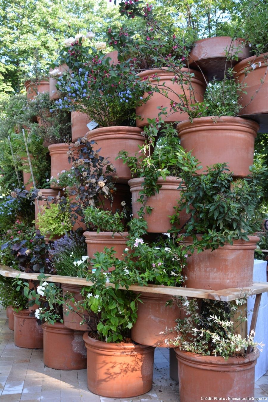 Idées récup' pour le jardin | Décoration jardin récup, Idée déco jardin recup et Decoration jardin