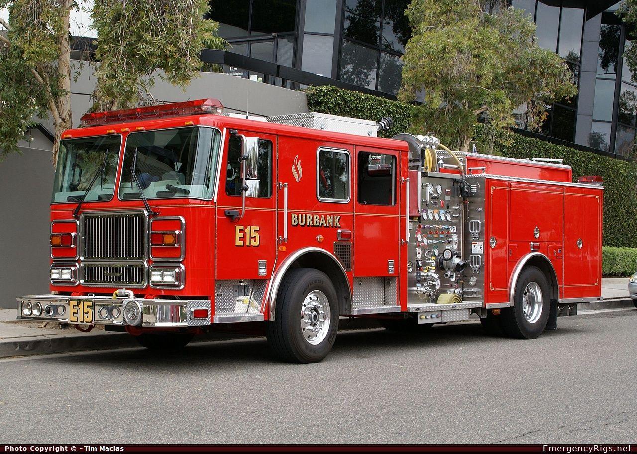 Ii pumper burbank fire department emergency apparatus fire truck photo
