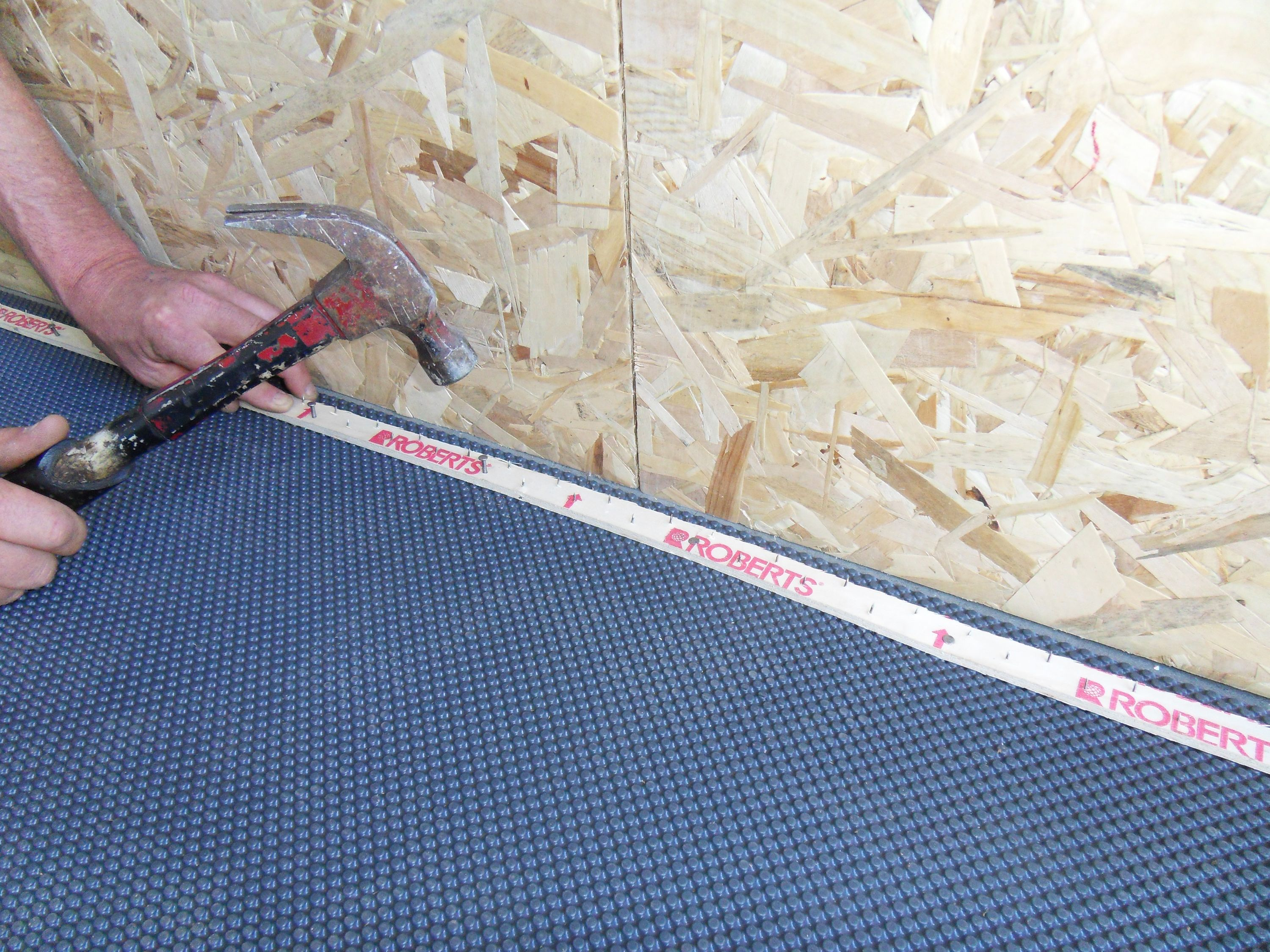 Superseal S Carpet Subfloor Membrane Installing Tack Strip Tack Strips Can Be Nailed Through The Membrane Membrane Carpet Installation